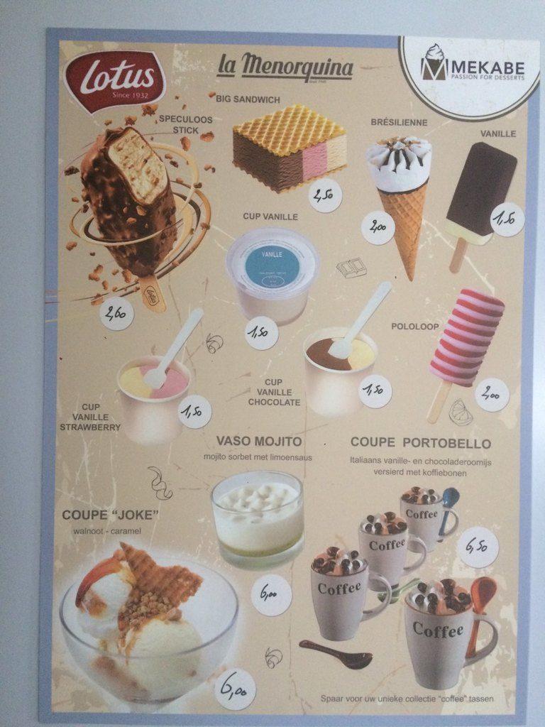 Dessertkaart Eethuis & Frituur Joke